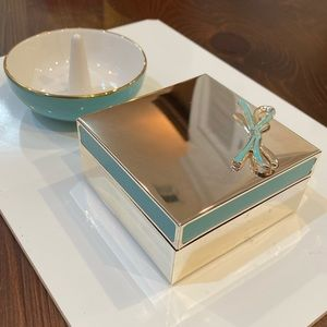 Kate Space Jewelry Box and Ring Holder Set